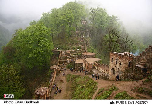 Castle of Rudkhan in Gilan-fooman